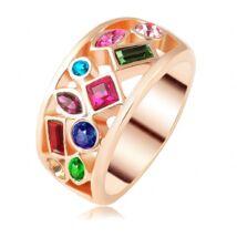 """""""Színes kert """" - Swarovski kristályos divatgyűrű"""