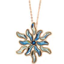 Boccadamo Jewels - Swarovski kristályos bronz nyakék - Virágos-arany
