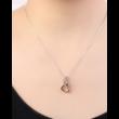 Ana - ezüst-arany- Swarovski kristályos nyaklánc - fehér