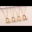 Bent snake- zöld -arany kristályos nyaklánc