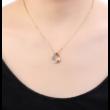 Star hole - fehér - Swarovski kristályos nyaklánc