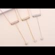 Long life -  fehér kristályos nyaklánc - ezüst