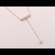 Long life -  fehér kristályos nyaklánc - arany
