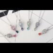 Váratlan utazás- Swarovski kristályos nyaklánc-lila