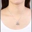 Tentacle - lila- Swarovski kristályos nyaklánc