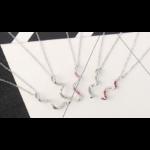 Spiralis - rózsaszín - Swarovski kristályos nyaklánc