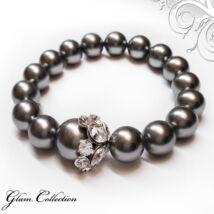 Swarovski gyöngy karkötő - Grey Pearl