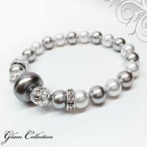Swarovski gyöngy karkötő - Grey,nagyméretű gyönggyel