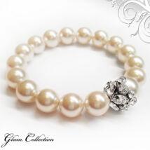 Swarovski gyöngy karkötő - Creamrose Pearl - krém