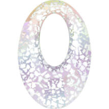 Helios Swarovski medál - vastag vagy vékony nyaklánccal - Crystal White Patina - fehér
