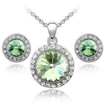 Kristálykarika - Swarovski kristályos - Szett- zöld