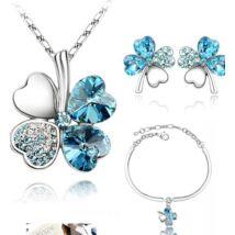Karkötős szerencse-szett - világos kék - Swarovski kristályos