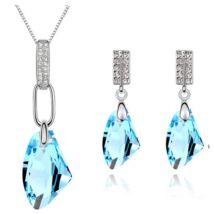 Szikla ékszerszett - kék - Swarovski kristályos