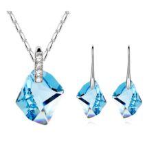 Jégszilánk ékszerszett - Swarovski kristályos-világoskék