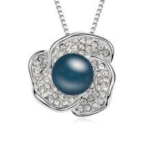 Perla- Swarovski kristályos - Medál-kék