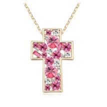 Iglesia- rózsaszín - Swarovski kristályos nyaklánc