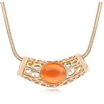 Gaia - narancs opál- Swarovski kristályos nyaklánc