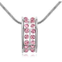 Varázskarika- rózsaszín - Swarovski kristályos nyaklánc