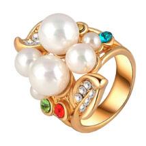 Álom-gyöngyök -  Swarovski kristályos divatgyűrű