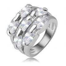 Fehér mozaik -  divatgyűrű