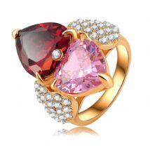 Romantika-  Swarovski kristályos divatgyűrű