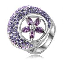 """""""Lila virág"""" -  divatgyűrű"""