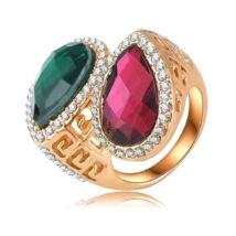 Bordó és zöld - divatgyűrű