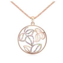 Aranykert - Swarovski kristályos nyaklánc - színes