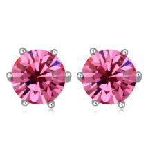 Kristály fülbevaló- sötét rózsaszín- Swarovski kristályos