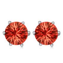 Kristály fülbevaló- piros- Swarovski kristályos