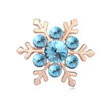 Hópehely - Swarovski kristályos bross - kék