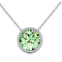 Egyszerü kristály -zöld- Swarovski kristályos - nyaklánc