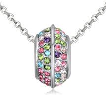Varázskarika- színes - Swarovski kristályos nyaklánc