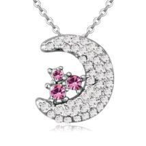 A holdbéli manó - rózsaszín- Swarovski kristályos - Medál