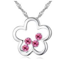 Cintia- rózsaszín- Swarovski kristályos nyaklánc