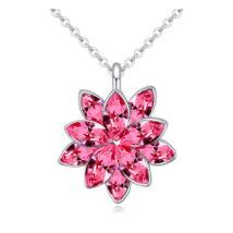 Esthajnalcsillag - nyaklánc - Swarovski kristályos-rózsaszín