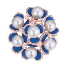 Labdarózsa  -Swarovski kristályos bross - kék