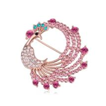 """"""" Az örök élet""""  -Swarovski kristályos bross - rózsaszín"""