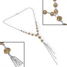 SOFIA- ezüst nyakék - borostyán