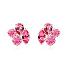 Csodabogár-rózsaszín- Swarovski kristályos fülbevaló