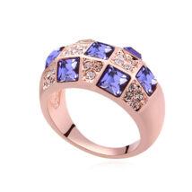 Mozaik- Swarovski kristályos gyűrű-lila