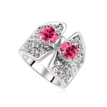 Luna.- rózsaszín- Swarovski kristályos-gyűrű