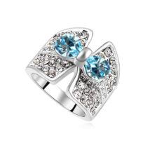 Luna.- kék- Swarovski kristályos-gyűrű