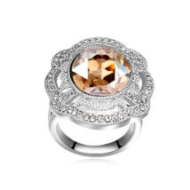 Nemeszisz- borostyán- Swarovski kristályos - Gyűrű