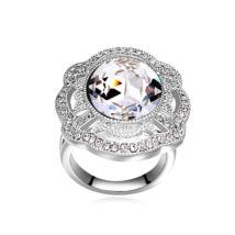 Nemeszisz- fehér- Swarovski kristályos - Gyűrű