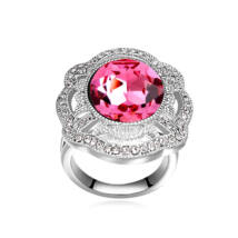 Nemeszisz- rózsaszín- Swarovski kristályos - Gyűrű