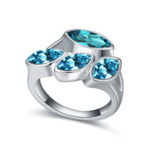 Izolda-kék-Swarovski kristályos - Gyűrű