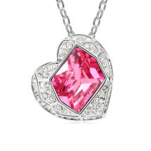 Coeur- rózsaszín- Swarovski kristályos nyaklánc