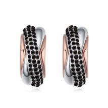 Álomkép fülbevaló-fekete- Swarovski kristályos