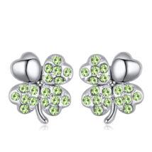 Lucky fülbevaló - zöld- Swarovski kristályos